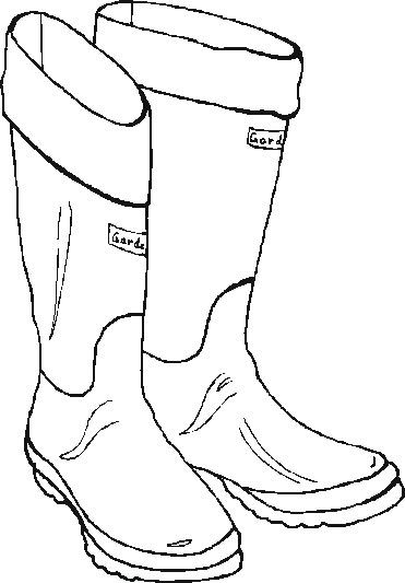 Santa Boots Color Coloring Pages