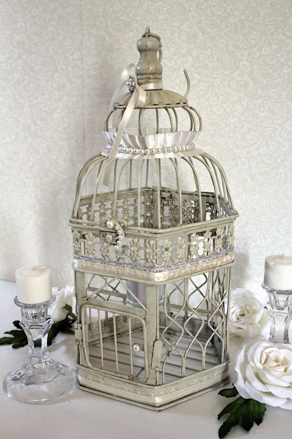 Centerpiece Wishing Well Wedding Birdcage Centerpiece Bird Cage