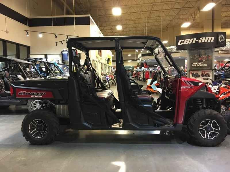 Used 2014 Polaris Ranger Crew 900 EPS Sunset Red LE ATVs For Sale in Arizona. 2014 Polaris Ranger Crew 900 EPS Sunset Red LE, 2014 Polaris® Ranger Crew® 900 EPS Sunset Red LE Hardest Working Features <ul><li>ALL-NEW, 60 HP PROSTAR® 900 ENGINE</li></ul><p>The all-new Polaris ProStar 900 engine features 60 HP, pumping out incredible, class-leading torque and pulling power.</p><ul><li>Electronic Power Steering (EPS)</li></ul><p>The smoothest, most responsive electronic power steering…