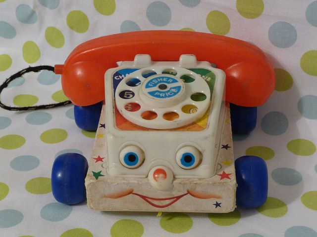 Vintage Fisher Price Phone #vintagetoys