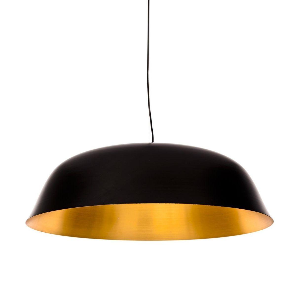 NORR 11 Cloche Three Suspension Lamp black brushed copper inside