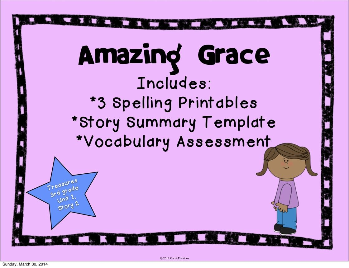 Amazing Grace {Story Booster Pack} | Treasures Reading
