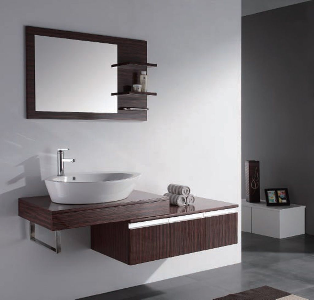 Stylish sinks with a cabinet for a bathroom