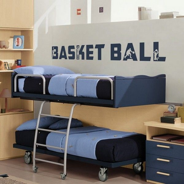 Sticker d co basket ball texte for Decoration chambre karate