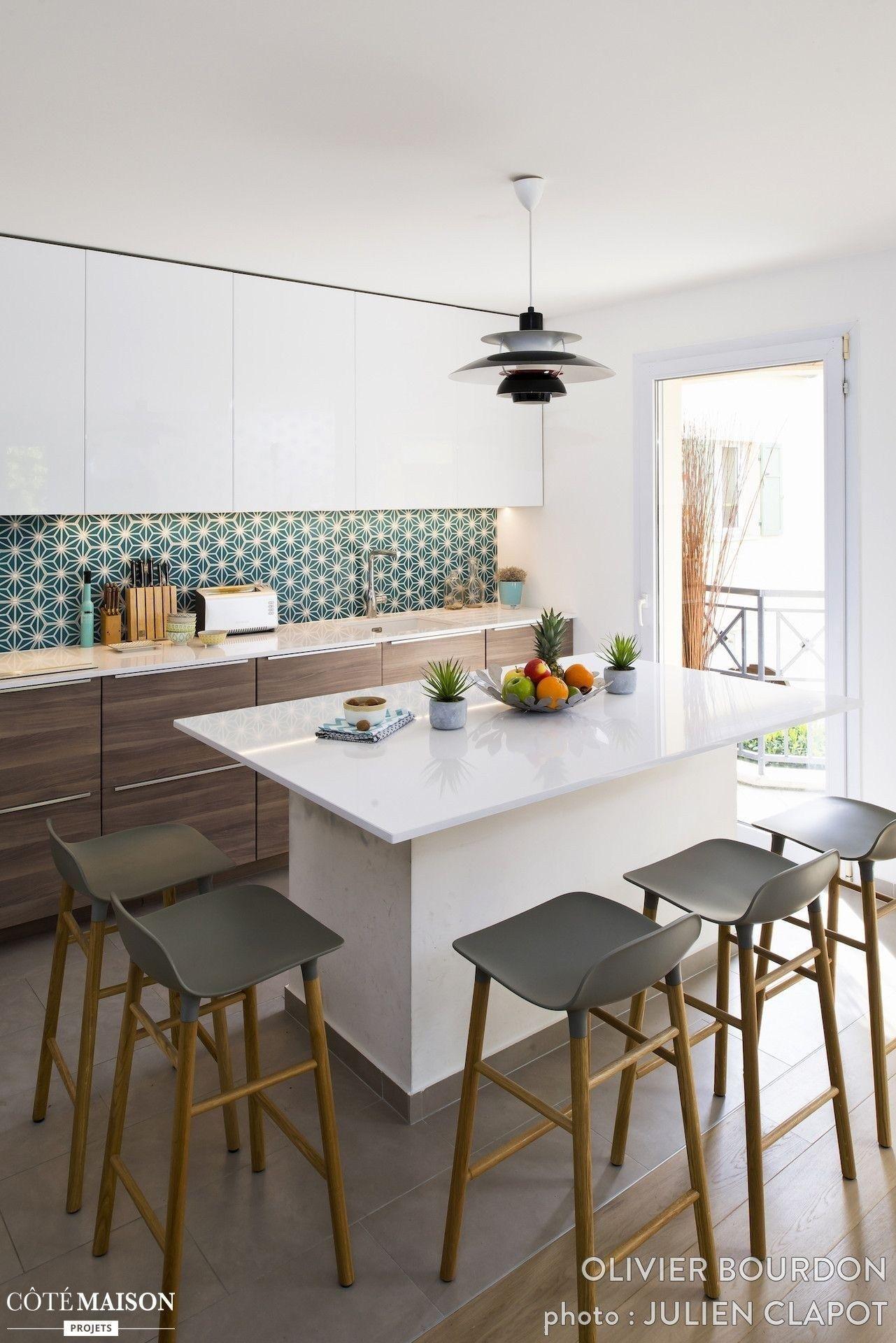 Salle A Manger Ilot Central Kitchen Inspirations Modern Kitchen Kitchen Tiles