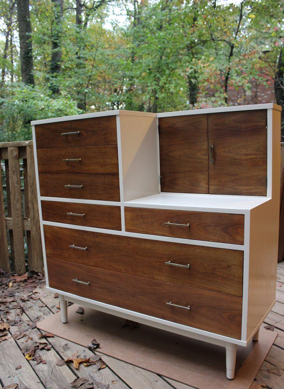 refinished vintage drexel biscayne dresser vanity combo cool