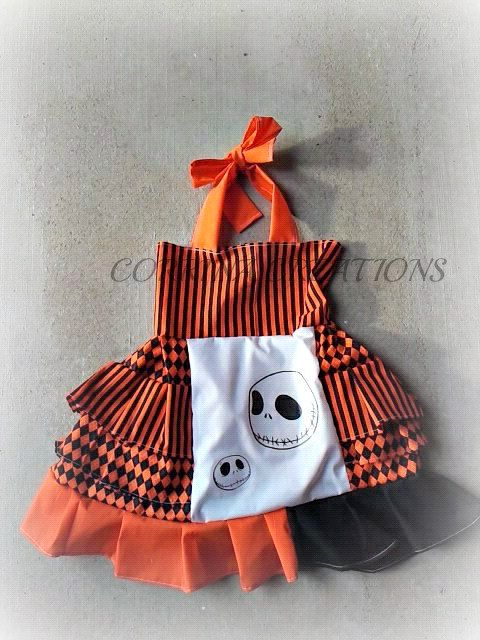 jack nightmare before christmas halloween ott pageant ooc boutique style size ruffle dress nb 3 6 9 12 24 months size 2 3 4 5t on etsy 42 99