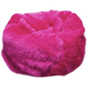 Fuzzy Fur Hot Pink Bean Bag Chair   Polyvore