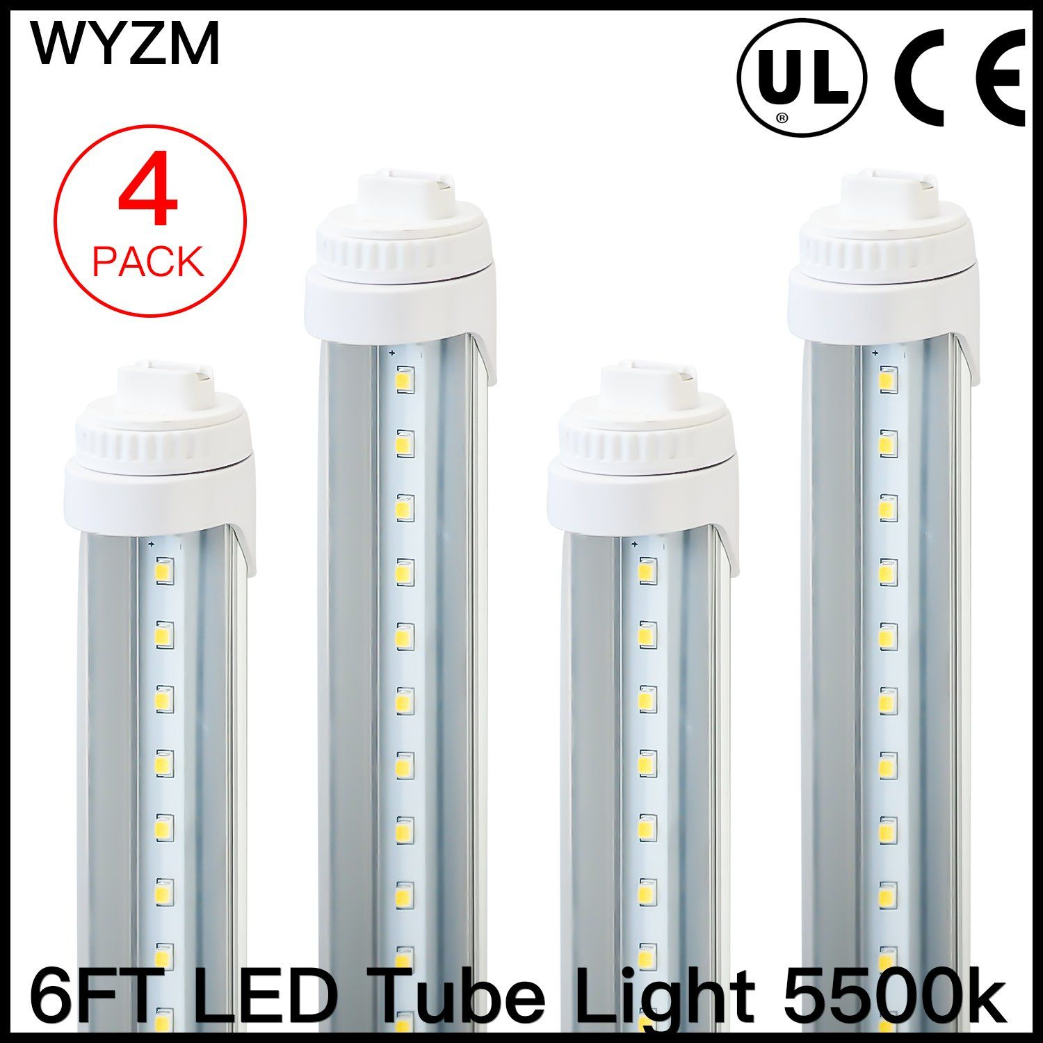 WYZM R17D 6 Feet 30w LED Tube Light Fluorescent Replacement for