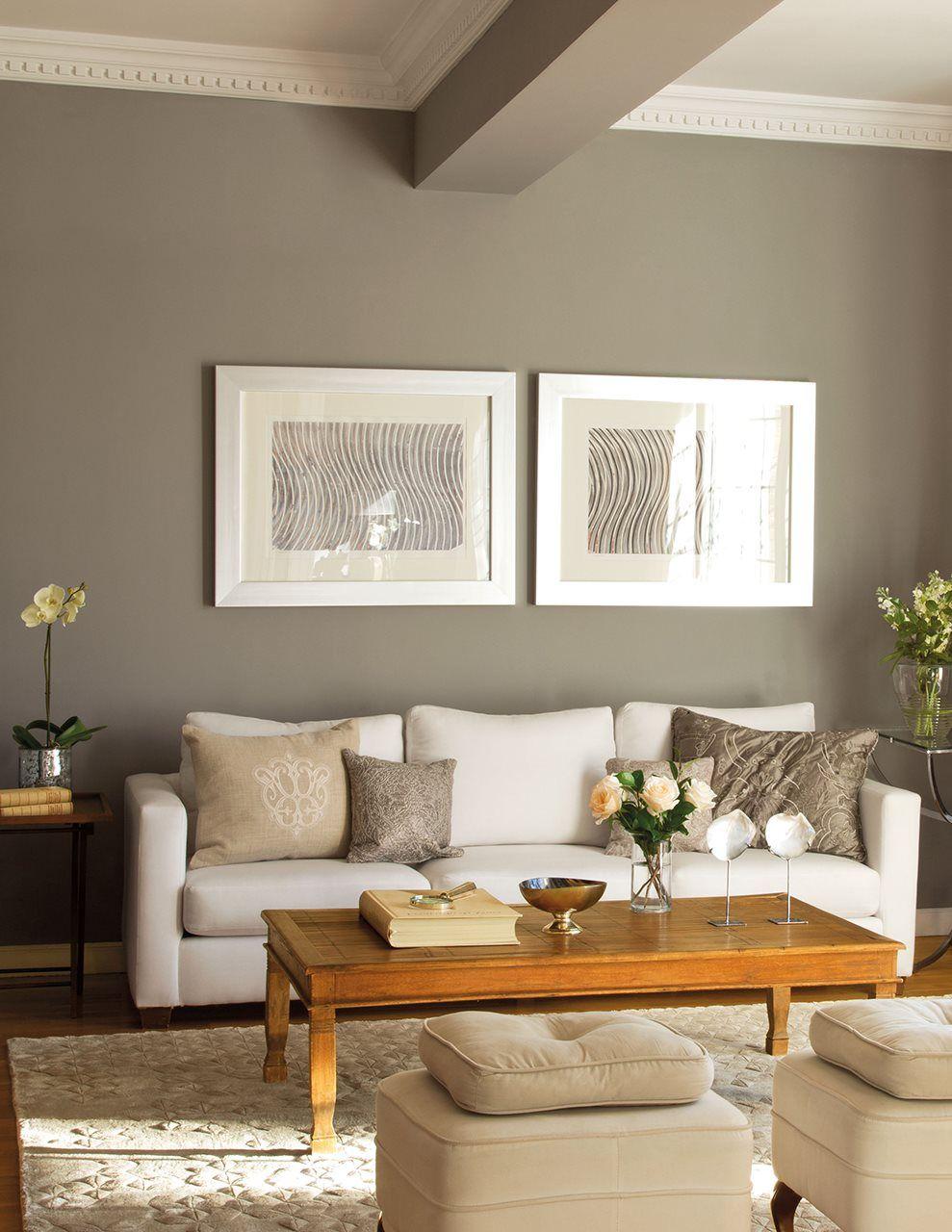Mezclando formas escuela deco y cuadro - Pintura pared gris ...