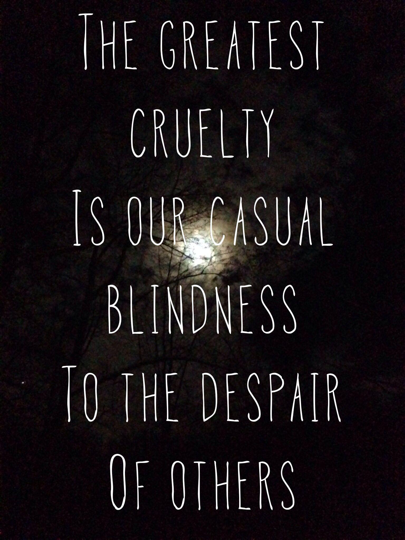 lacking empathy.....
