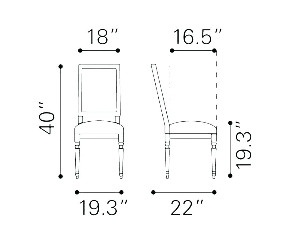 Chair Dimensions In M