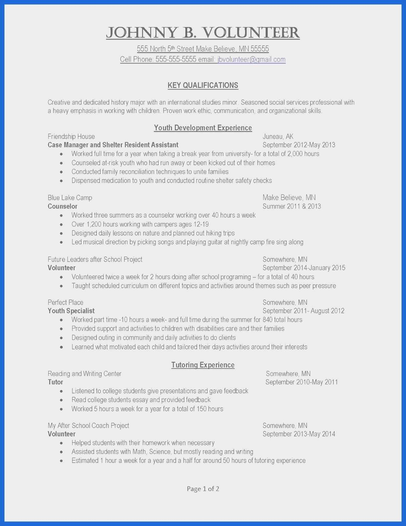 Cv Template For Over 40 Resume Cover Letter Examples Job Resume