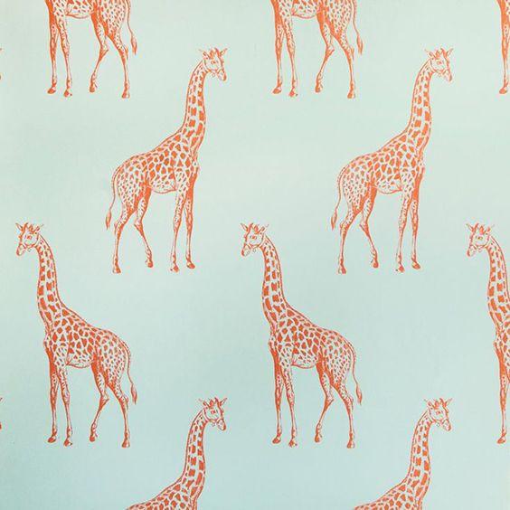 Good Abnormals Anonymous Pale Aqua Giraffe Wallpaper