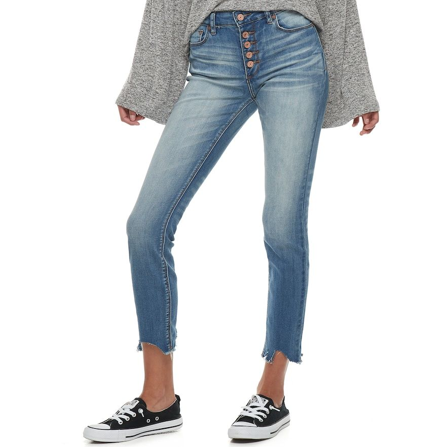 514aa417741 Juniors  Indigo Rein Mid-Rise Destructed Ankle Skinny Jeans in 2019 ...