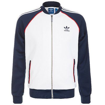 adidas originals superstar track top mens s19173 white navy zip jacket size xl originals. Black Bedroom Furniture Sets. Home Design Ideas