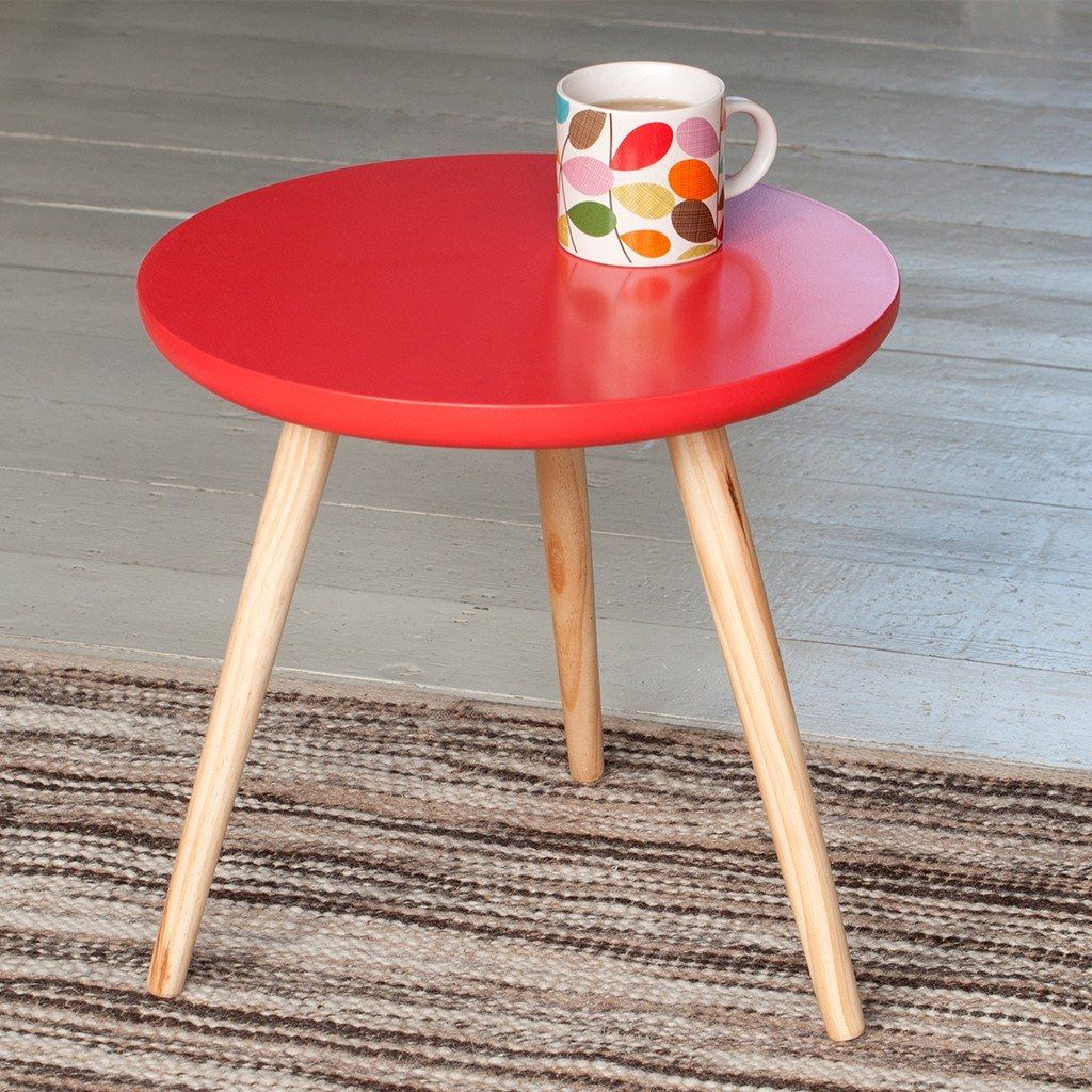 Fifties Red Round Wooden Coffee Table [ 1024 x 1024 Pixel ]
