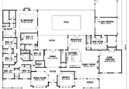 seven bedroom floor plans Google Search Country style