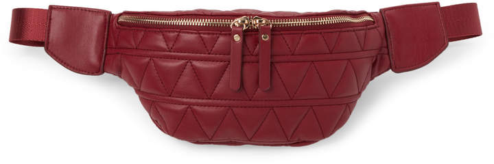 Urban Expressions Red Puma Quilted Vegan Fanny Pack 8a063e08978cf