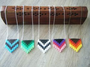 Necklaces hama perler by bijoux-creations-de-sylvie-poilvet