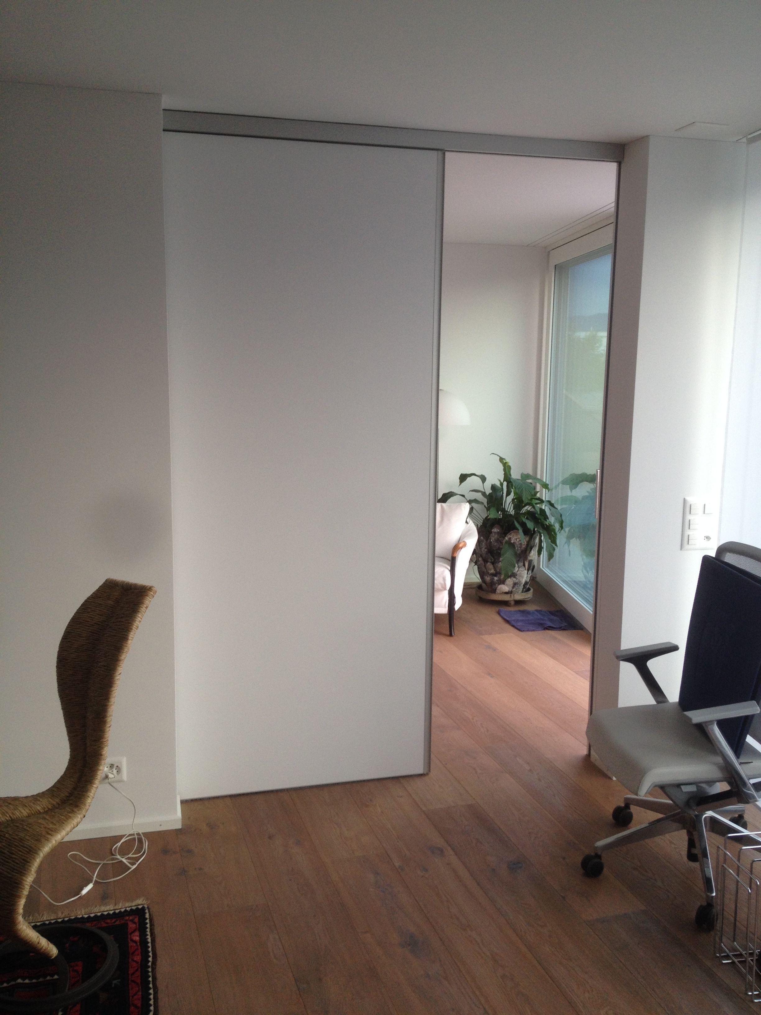 Raumhohe Schiebetür 2,6mx1,8m hxb In WP30 Weiß Lack | Interior ...