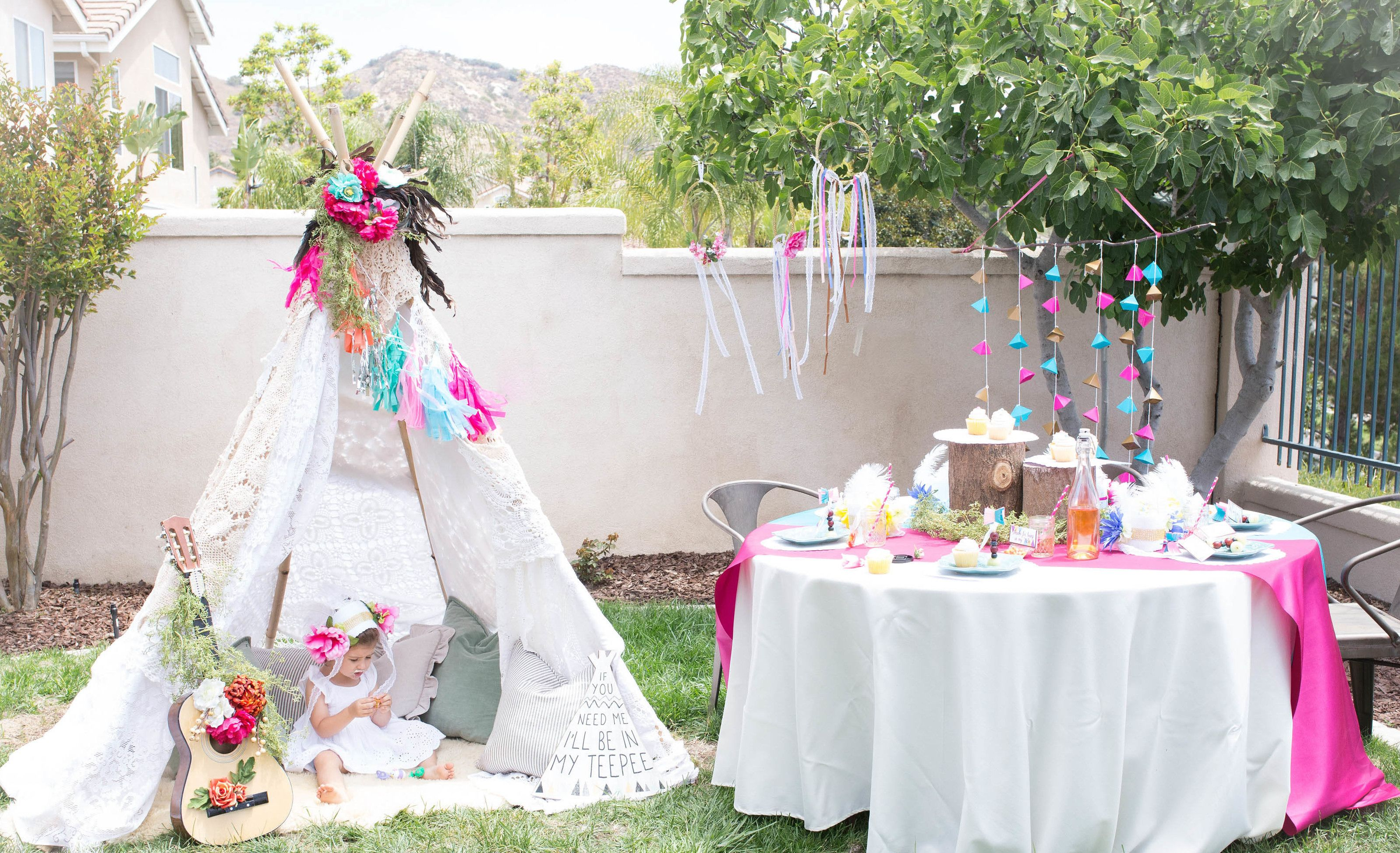 Bohemian Tribal Teepee Party, a Girl\'s Birthday Party for the Tribe ...