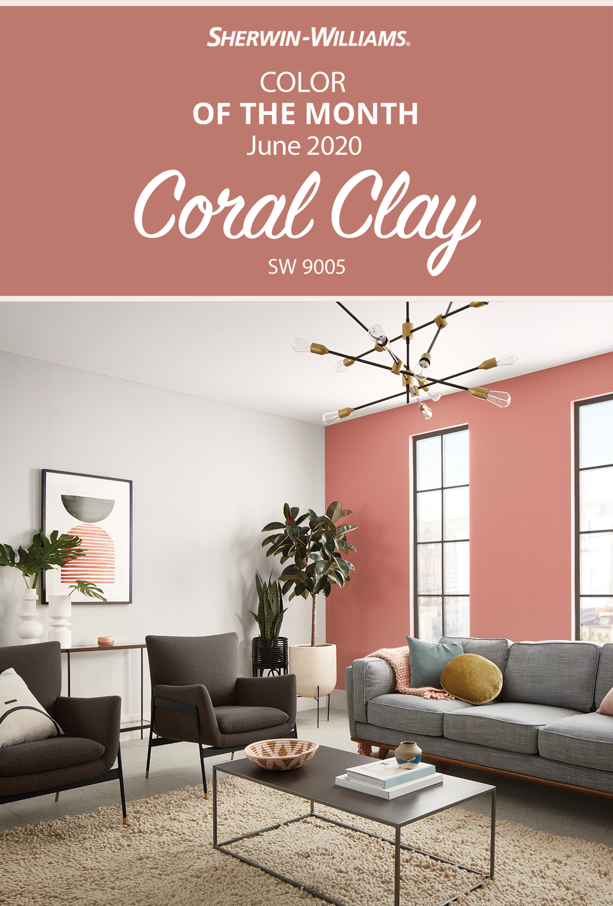 June Color Of The Month Sherwin Williams In 2020 Coral Paint Colors Sherwin Williams Paint Colors For Home Coral Paint Colors