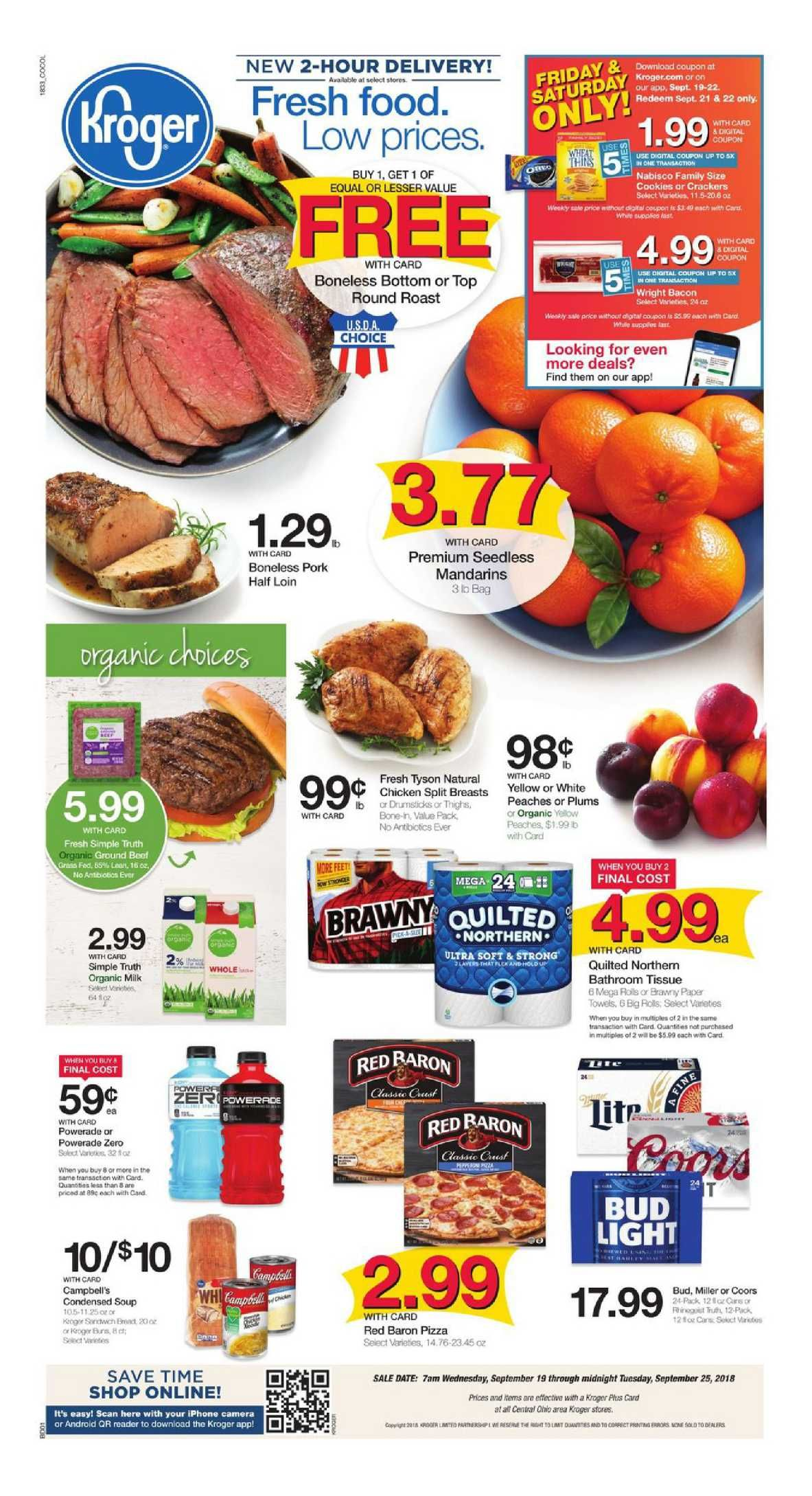 Kroger weekly ad flyer march 11 17 2020 food menu