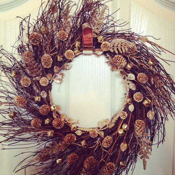 Winter Wreath, Christmas Wreath, Holiday Wreath on Etsy, $45.00