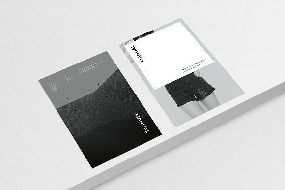 The Brand Manual Indesign template is designed with a minimal ...