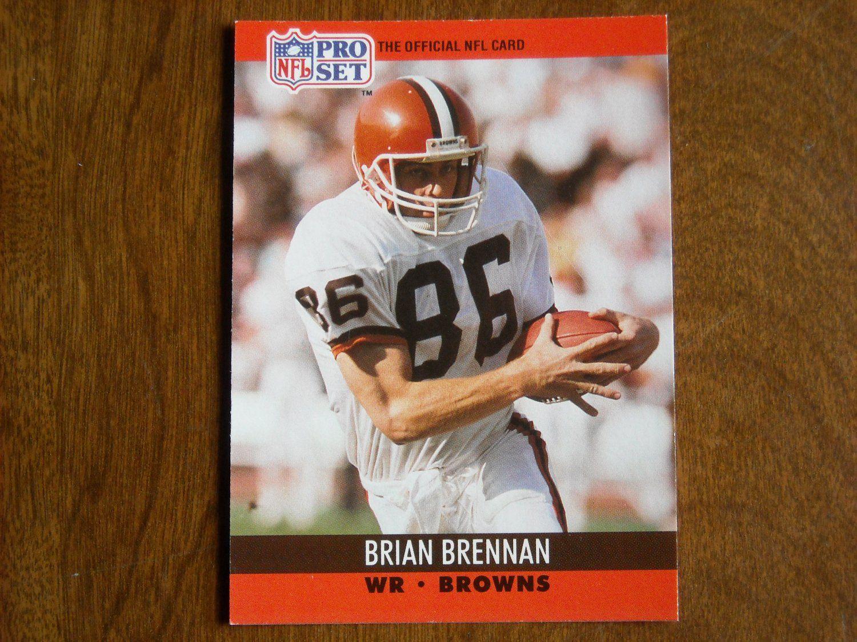 Brian brennan cleveland browns wr card no 470 fb470