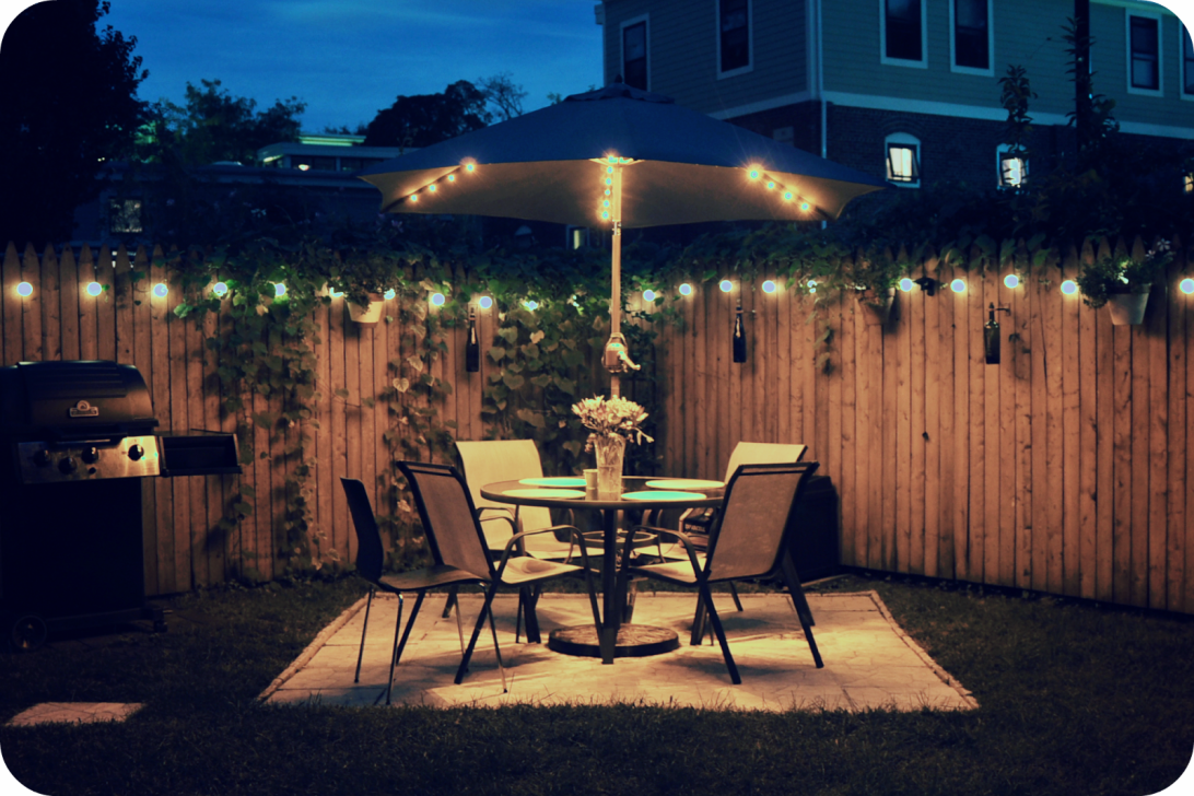 Landscape Lighting Ideas Pictures Backyard Backyardlighting Backyard Solar Lights Solar Patio Lights Backyard Lighting