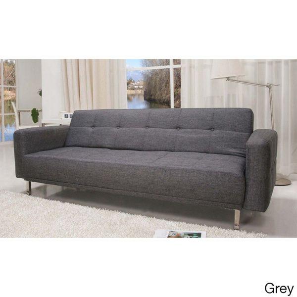 US Pride Furniture SB 9016 Contemporary Home Design Beige Fabric Sofa Bed  (Beige) (Microfiber)