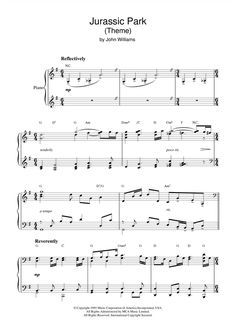 Jurassic Park By John Williams Piano Solo Digital Sheet Music In