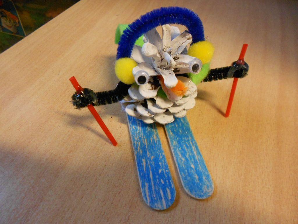 skiër met denappel