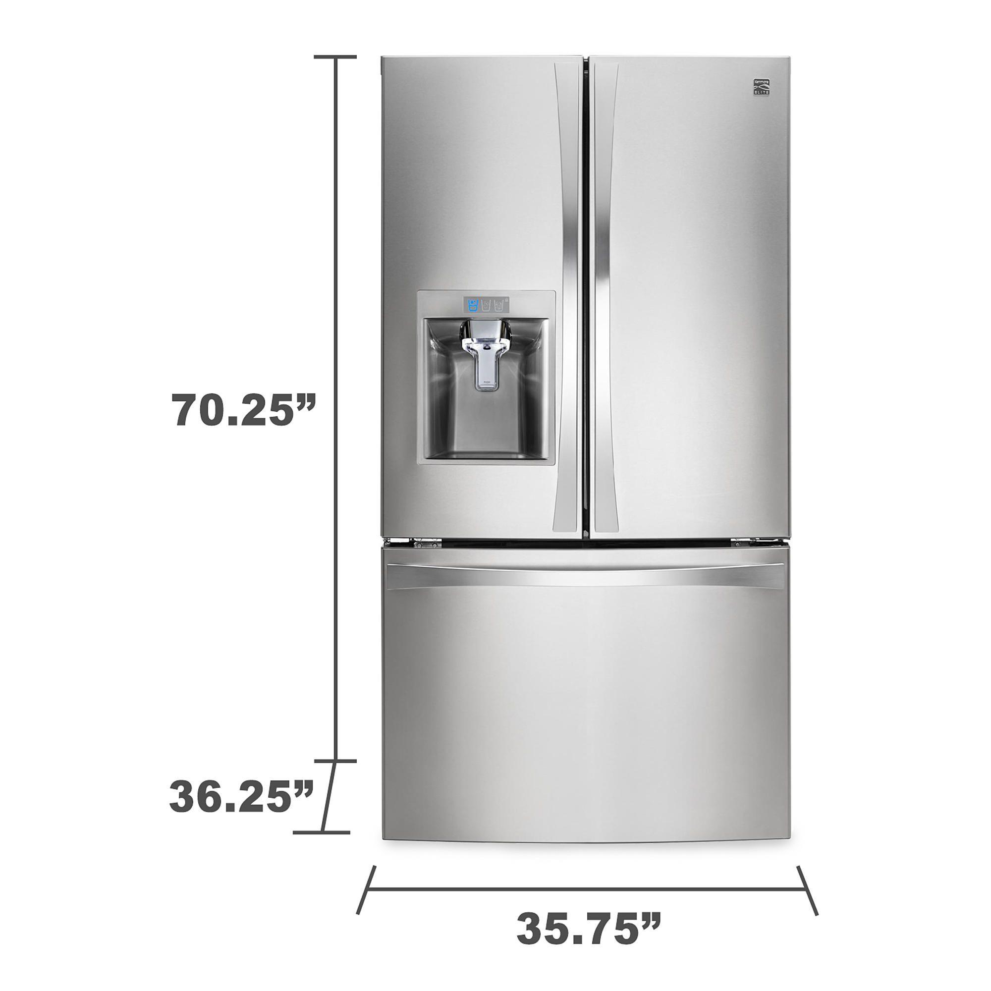 Kenmore Elite 29 8 Cu Ft French Door Bottom Freezer Fridge