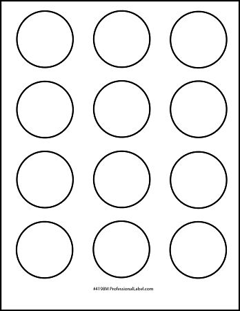Best Photos of Printable 1 2 Inch Circle Template - 1 Inch Circle - labels template free