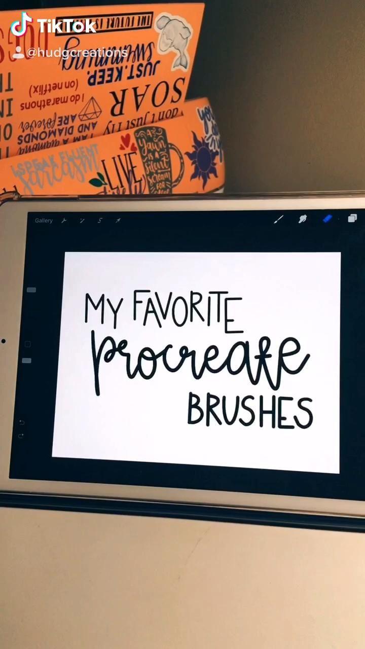 My Favorite Procreate Brushes Tik Tok Video Digital Art Tutorial Procreate Ipad Tutorials Digital Drawing