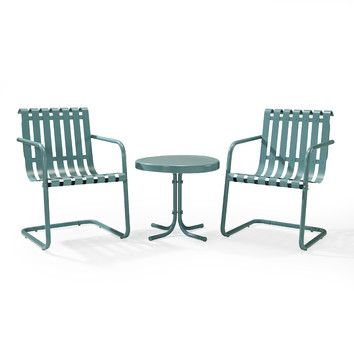 Front Porch Crosley Gracie 3 Piece Conversation Set With Images Outdoor Seating Set Outdoor Sofa Sets Outdoor Chairs