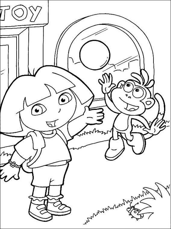Dora The Explorer Coloring Pages 106 Disney Coloring Pages Monster Coloring Pages Cute Coloring Pages