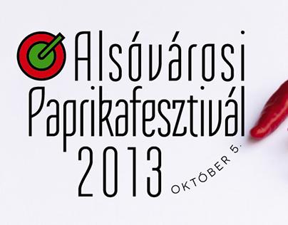"Check out new work on my @Behance portfolio: ""Alsóvárosi Paprikafesztivál 2013"" Poster, Red, Hot, Chilli, Paprika, White, Modern, Contemporary, Banner"
