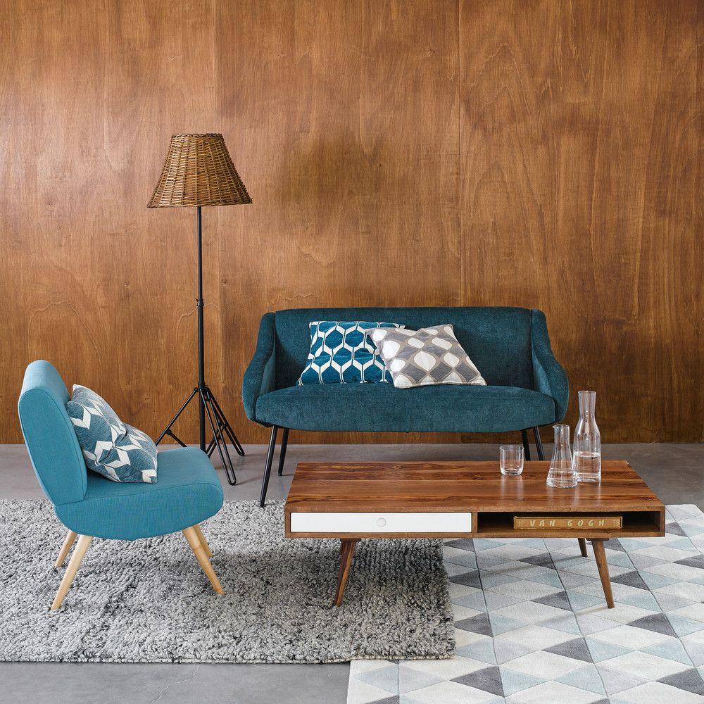 coussin gris motifs bicolores 45x45cm maisons du monde. Black Bedroom Furniture Sets. Home Design Ideas