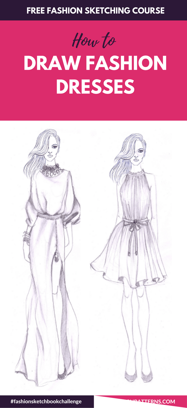 Fashion Sketchboook Challenge New In 2020 Fashion Drawing Tutorial Fashion Drawing Sketches Fashion Design Sketchbook
