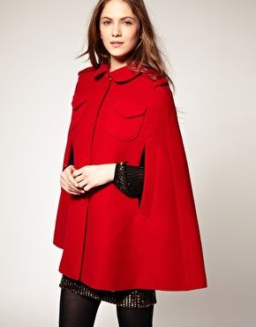 Image 1 of Boutique By Jaeger Red Wool Cape | style inspiration ...