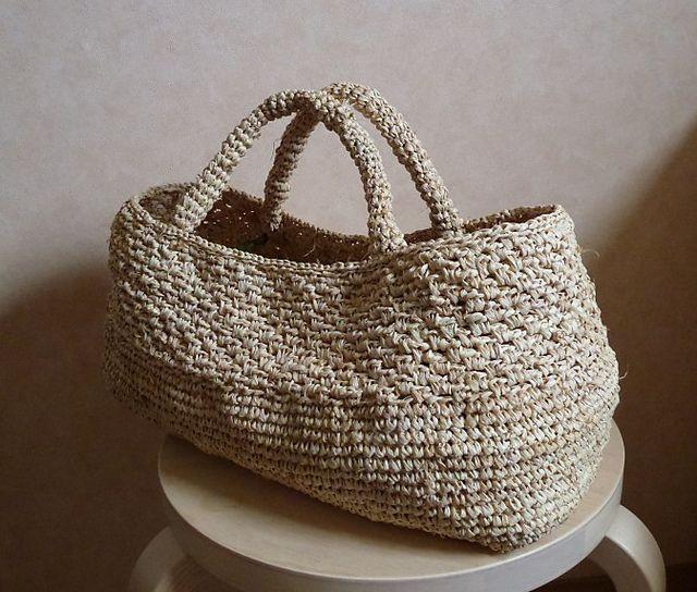 Raffia or Jute. Crochet. Ravelry: Emiko Kamata.   Make   Pinterest ...