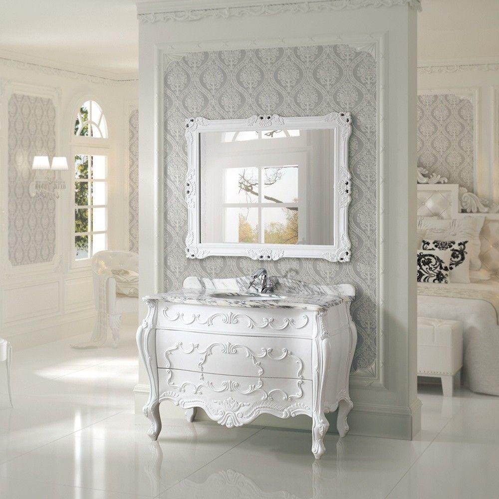 Antique 47 single sink bathroom vanity by infurniture