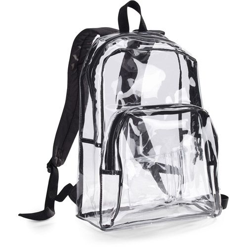 "Eastsport 17.5"" Clear with Black Trim Backpack"
