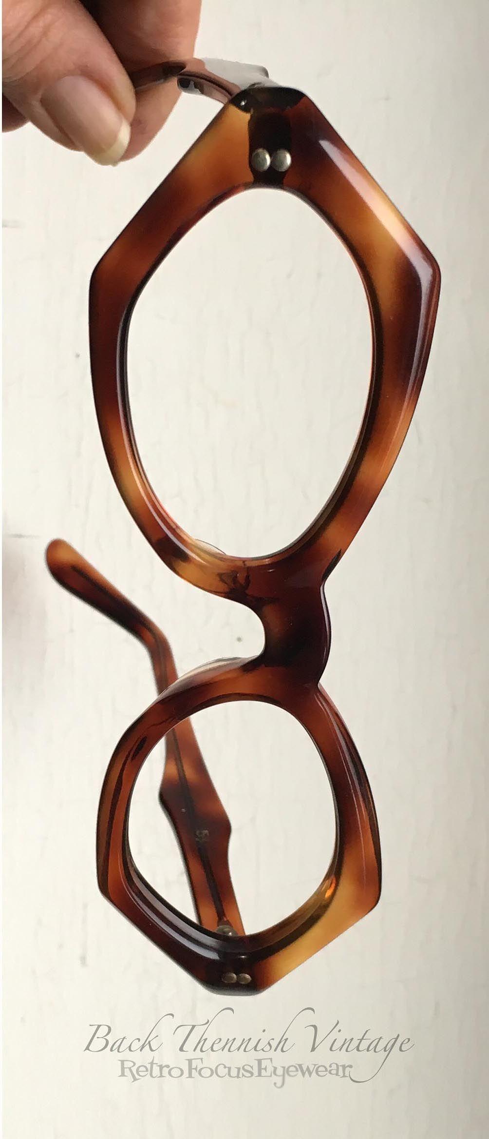 Unique, eccentric unusual eyeglass frames. Tortoise. Vintage 60\'s ...