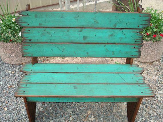 Wood Barn Wood Bench, Bench, Western Bench, Rustic Bench   Bancos de ...