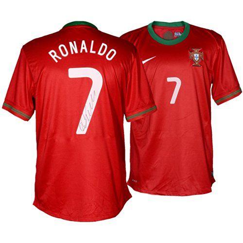 sale retailer 11c08 3416e Cristiano Ronaldo Autographed Soccer Jersey - Mounted ...